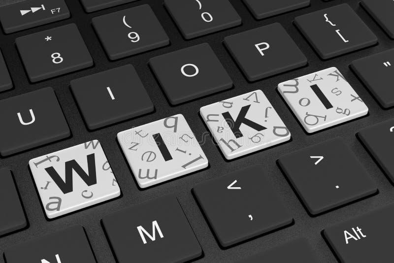 Wiki-Computer-Tastatur lizenzfreie abbildung