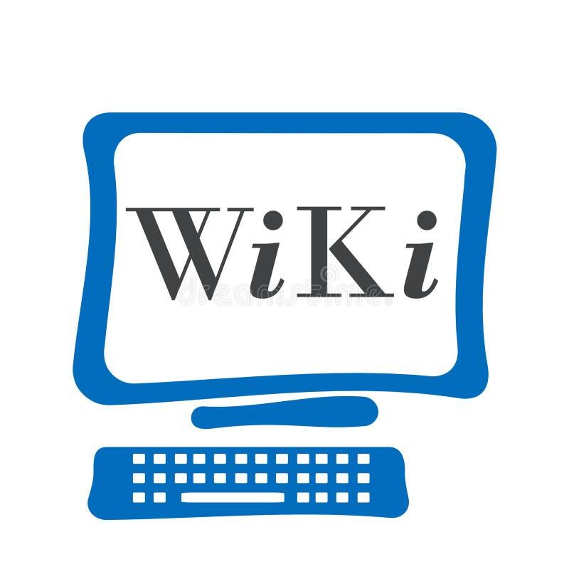 Wiki ekran komputerowy ilustracji