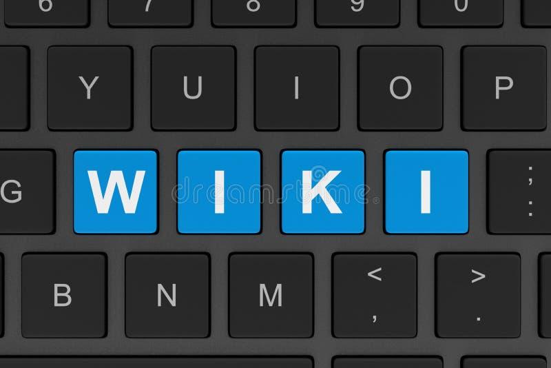 Wiki Komputerowa klawiatura royalty ilustracja