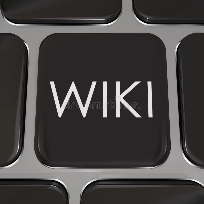 Wiki Komputerowego klucza strony internetowej guzik Redaguje informację ilustracja wektor