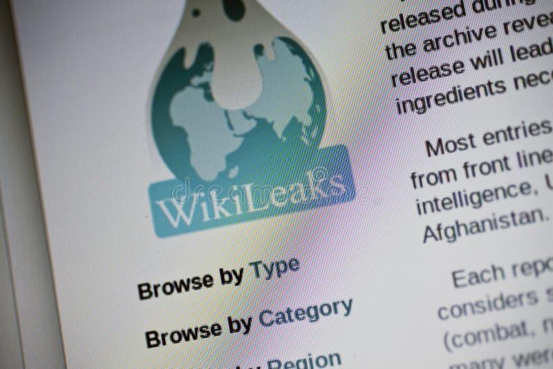 Wikileaks fotografía de archivo libre de regalías