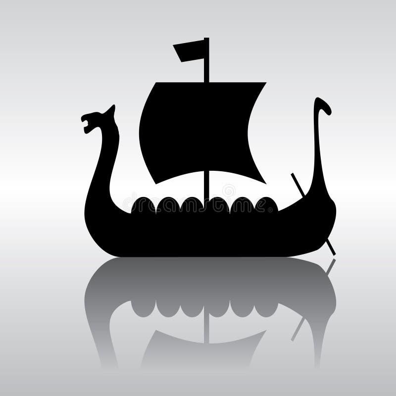 Wikinger-Segelnlieferung lizenzfreie abbildung