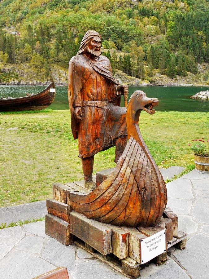 Wikingerschiff, Viking-Mann, Boot lizenzfreie stockbilder