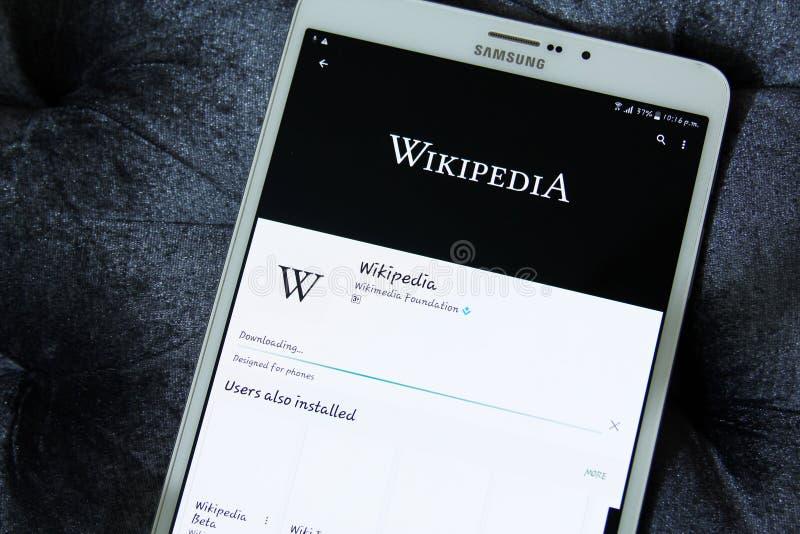 Wikipedia app fotografia stock libera da diritti