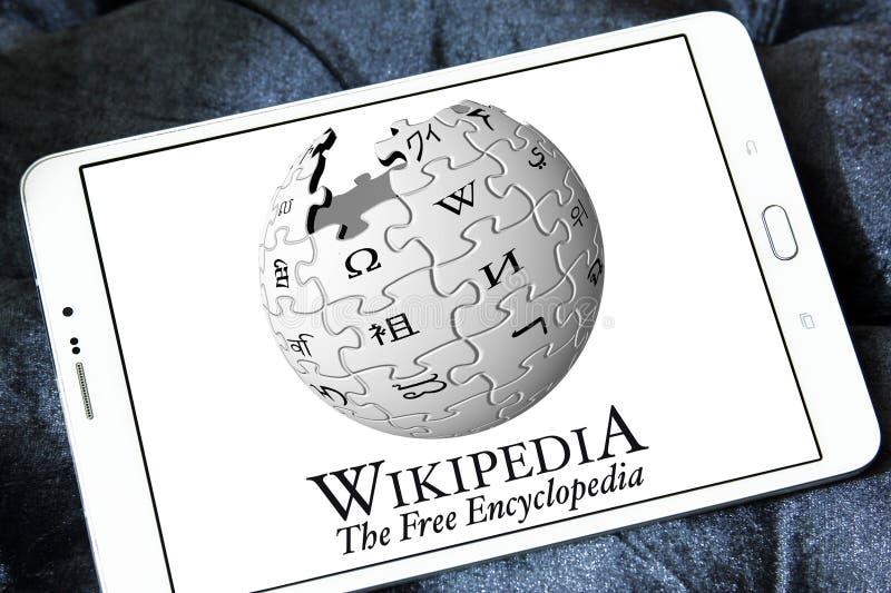 Wikipedia logo royaltyfri foto