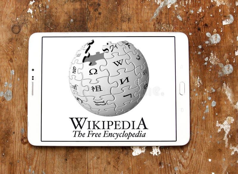 Wikipedia logo royaltyfri bild
