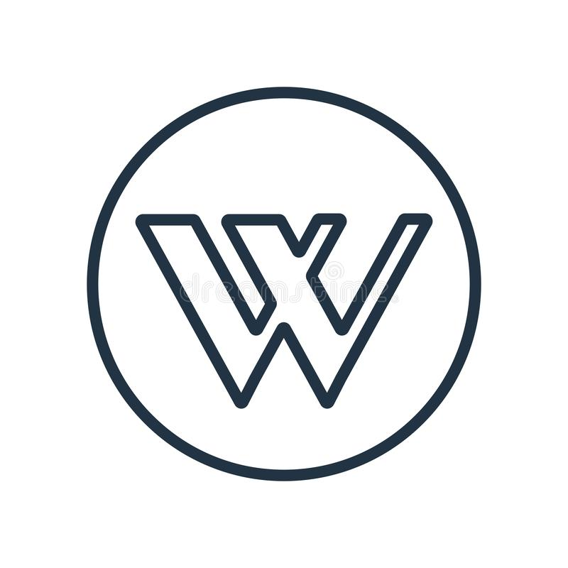 Wikipedia-pictogramvector op witte achtergrond, Wikipedia-teken wordt geïsoleerd dat vector illustratie