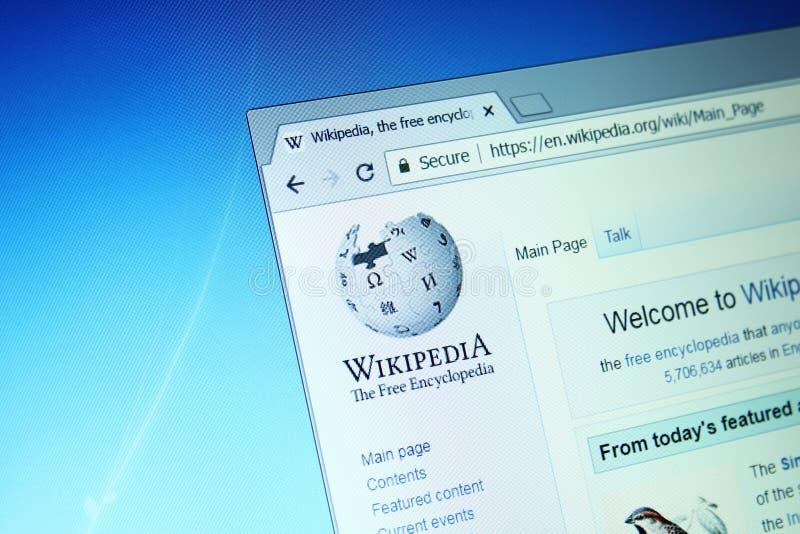 Wikipedia website arkivbild
