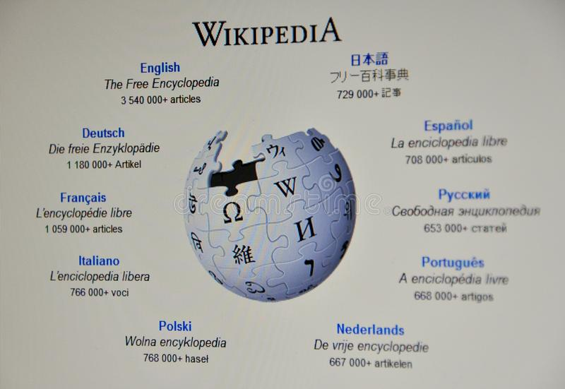 Download Wikipedia website editorial stock photo. Image of everything - 18008463