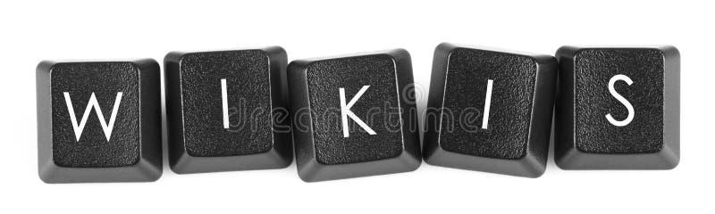 Wikis - bouton de clavier photographie stock libre de droits