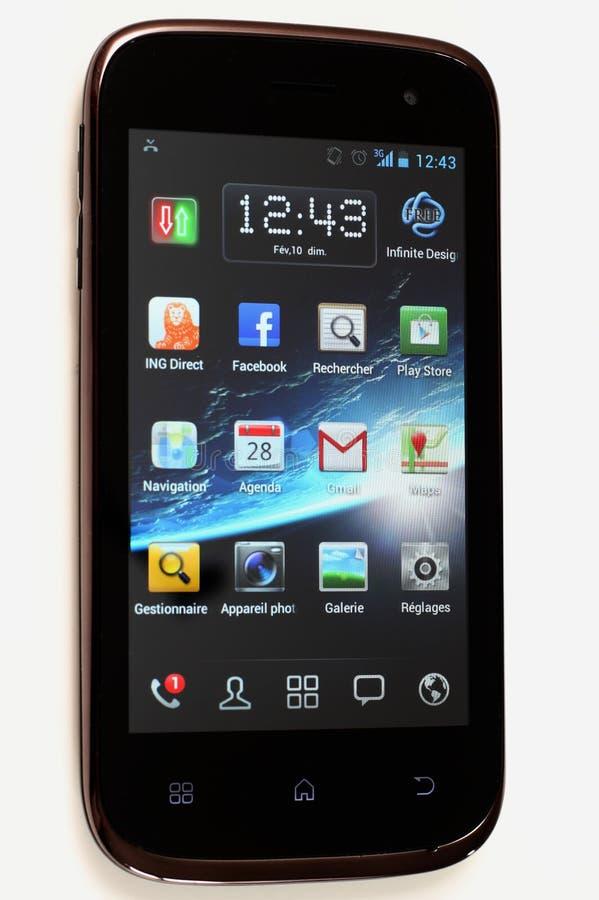 Wiko Cink dünn - androider Handy getrennt lizenzfreies stockfoto
