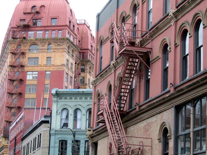 Wiktoriańscy budynki w Gastown Vancouver, KANADA, Kanada obraz royalty free