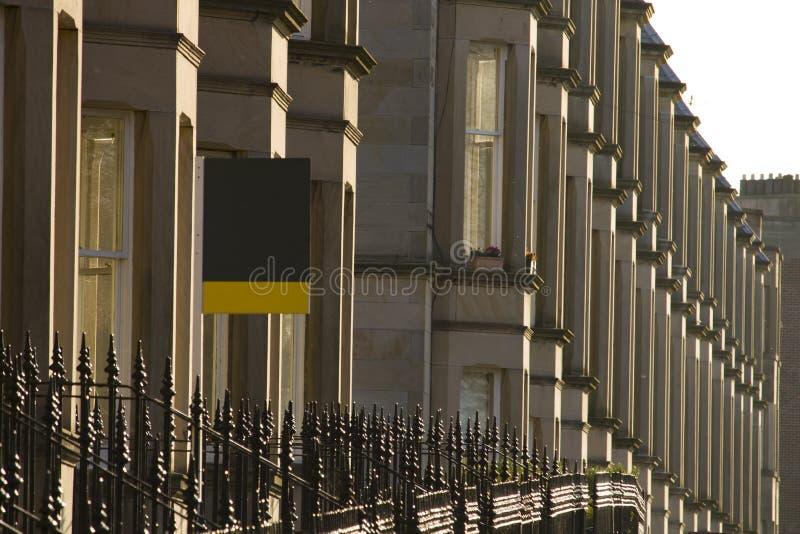 Wiktoriańscy kolonia domy robić piaskowiec w Edynburg, Szkocja zdjęcie stock