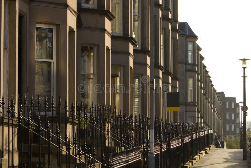Wiktoriańscy kolonia domy robić piaskowiec w Edynburg, Szkocja obraz stock