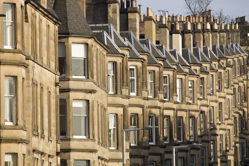 Wiktoriańscy kolonia domy robić piaskowiec w Edynburg, Szkocja fotografia stock