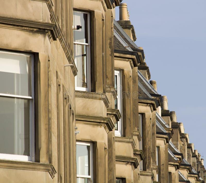 Wiktoriańscy kolonia domy robić piaskowiec w Edynburg, Szkocja obrazy royalty free