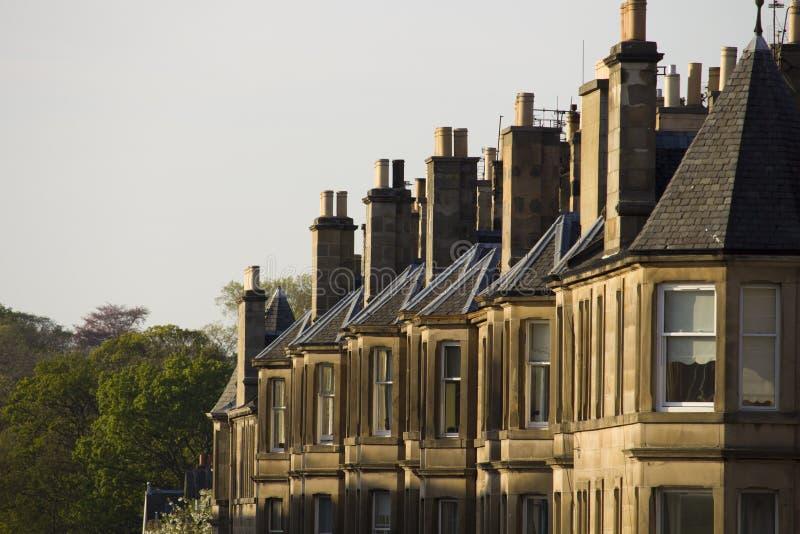 Wiktoriańscy kolonia domy robić piaskowiec w Edynburg, Szkocja zdjęcia stock
