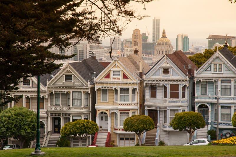 Wiktoriański dom, San Fransisco fotografia royalty free