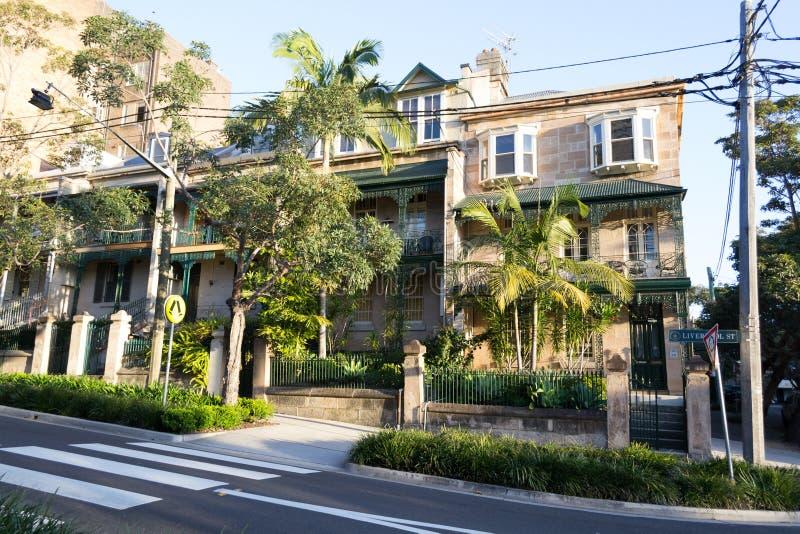 Wiktoriański huse w Sydney obraz stock