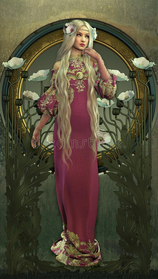 Wiktoriański piękno ilustracji