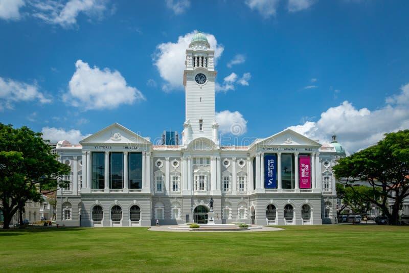 Wiktoria filharmonia w Singapur centrum miasta i Theatre zdjęcia stock