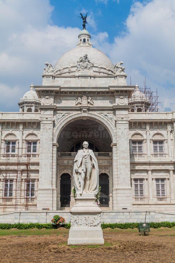 Wiktoria George Curzon i pomnika statua w Kolkata Calcutta, Ind obrazy royalty free