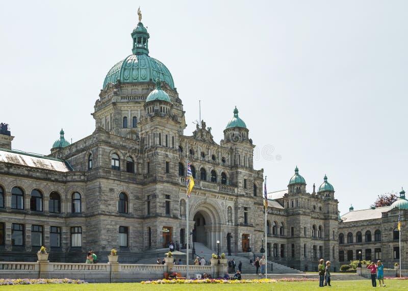 WIKTORIA, kolumbiowie brytyjska KANADA, MAJ, - 19: Kanadyjski parlament obraz royalty free
