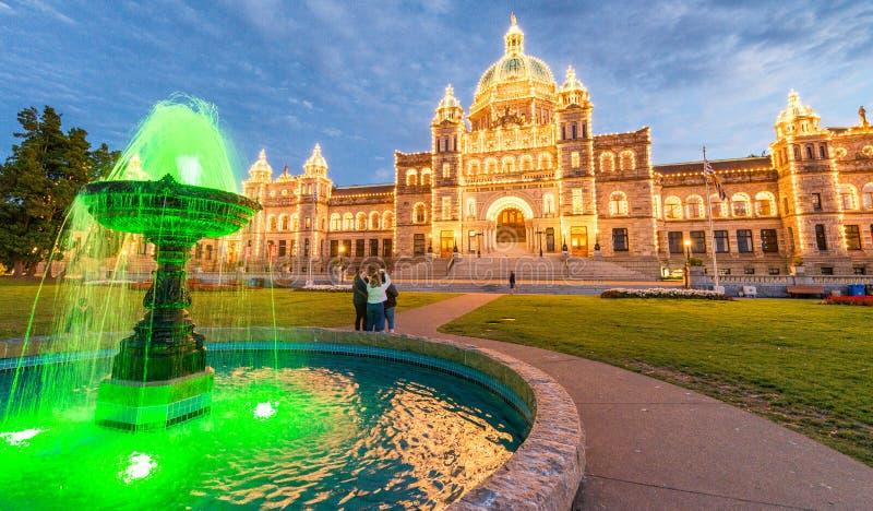 WIKTORIA, kolumbiowie brytyjska - SIERPIEŃ 14, 2017: Parlamentu buildin zdjęcie royalty free
