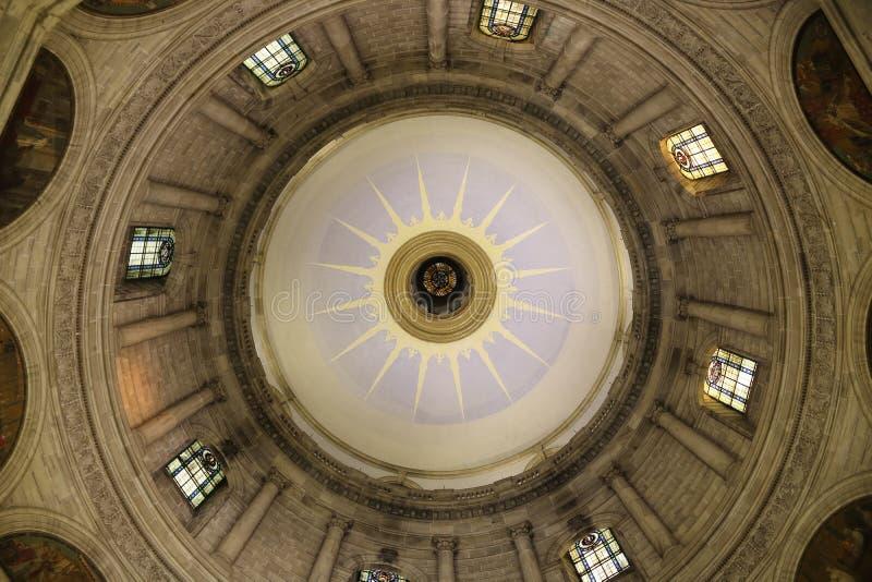 Wiktoria pamiątkowej sali dachu kopuły wnętrze zdjęcia stock
