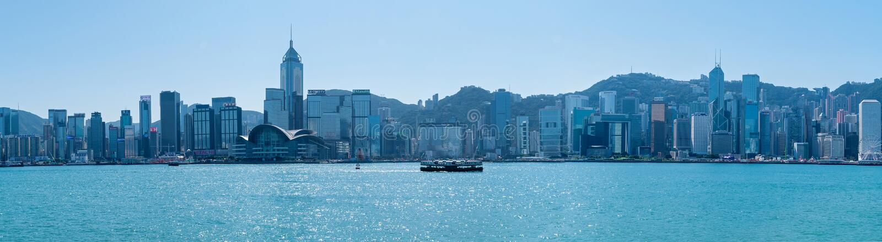 Wiktoria schronienie i Hong Kong wyspa obrazy royalty free