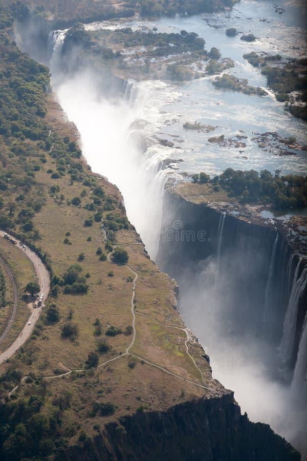 Wiktoria spadki, zambiowie fotografia stock