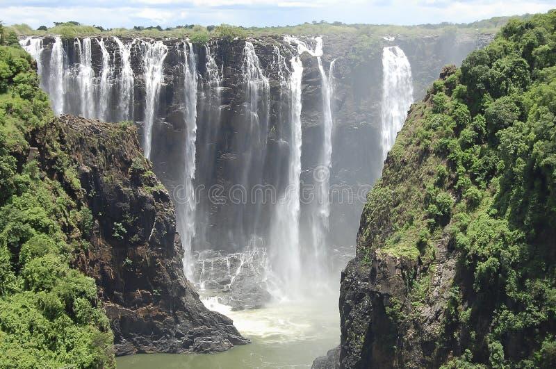 Wiktoria spadki - zambiowie/Zimbabwe zdjęcie stock