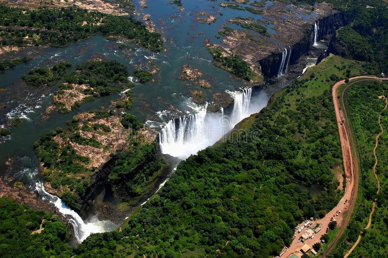 Wiktoria spadki Zimbabwe obrazy royalty free
