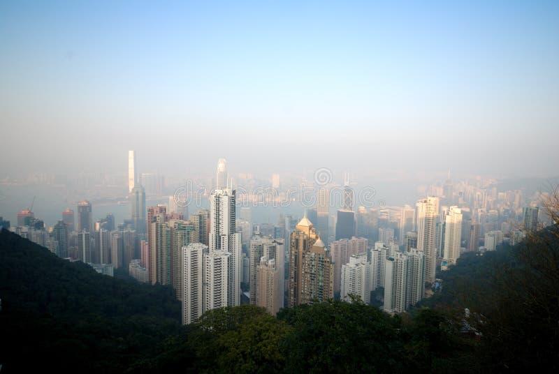 Wiktoria szczytu Hong kong fotografia royalty free