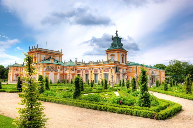 Wilanow宫殿在华沙,波兰 免版税图库摄影