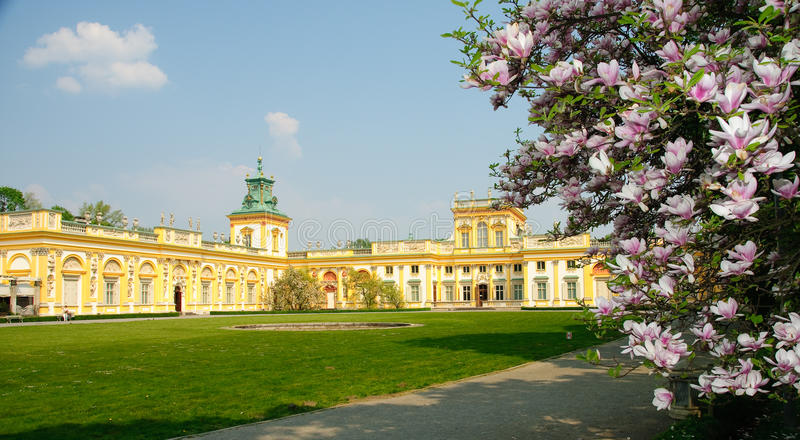 wilanow Польши warsaw парка дворца стоковая фотография