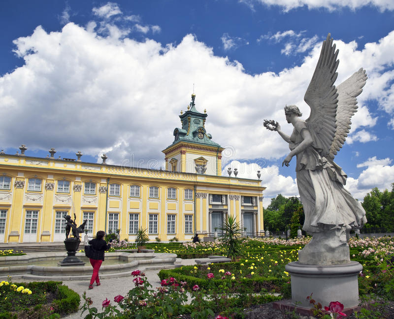 Wilanow chateau Warsaw royalty free stock photography