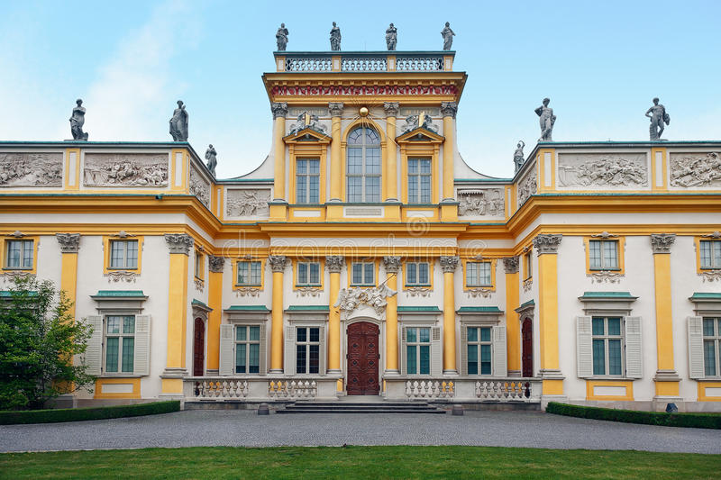 Download Wilanow Palace in Warsaw stock image. Image of wilanow - 19703173