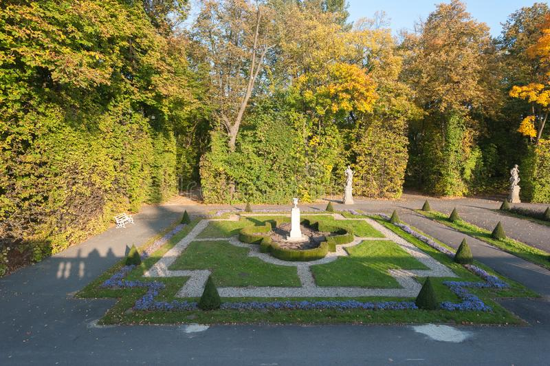 Wilanow Palace Warsaw Poland October 2014 Palace with Garden Exterior View Around stock images