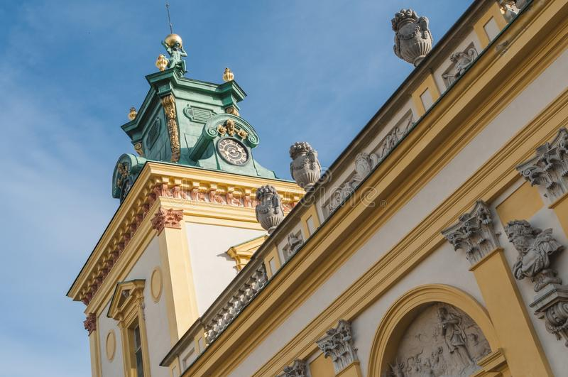 Wilanow palace in Warsaw Poland stock photo