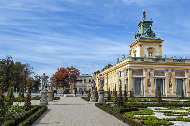 Wilanow Palace, Warsaw, Poland. stock photos