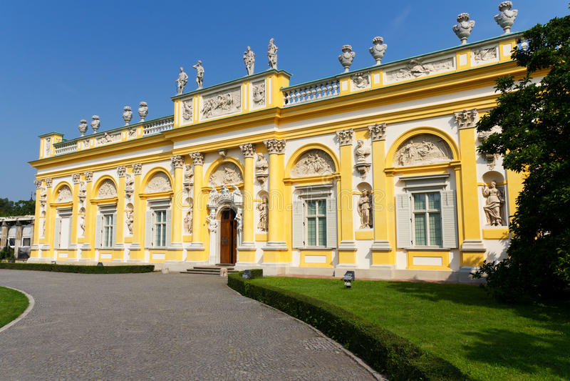 Wilanow Palast in Warschau, Polen stockfoto