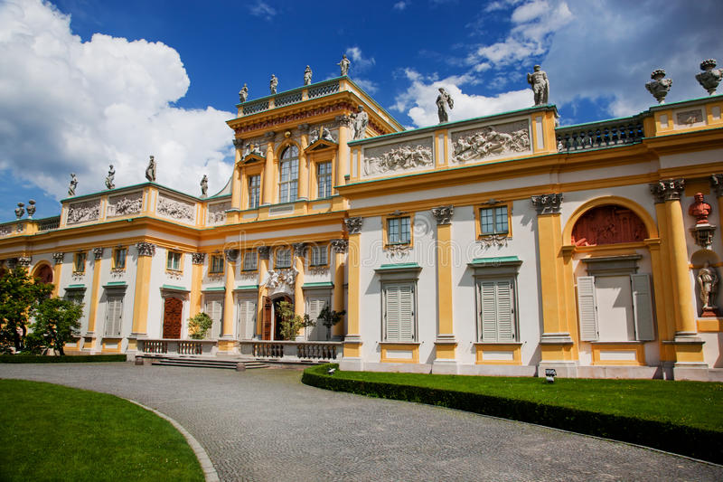 Wilanow slott i Warszawa, Polen royaltyfri fotografi