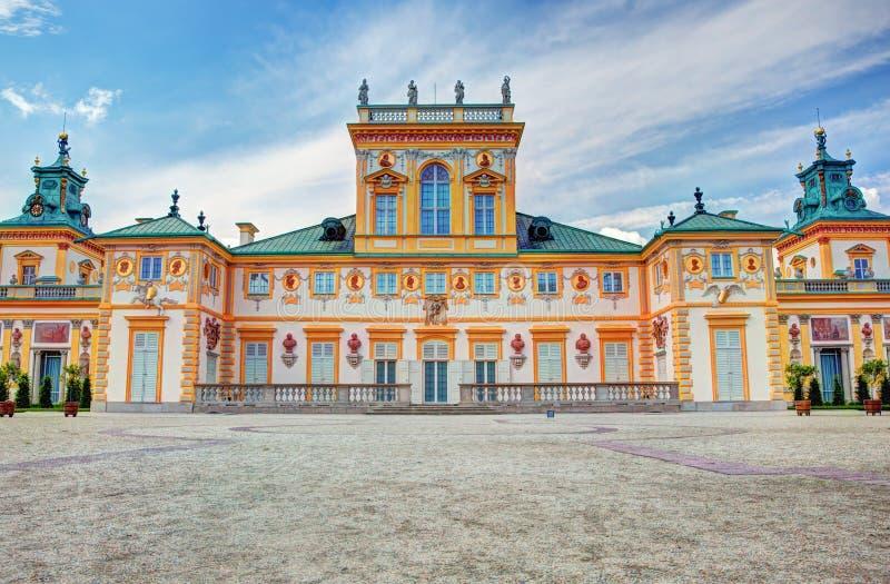 Wilanow slott i Warszawa, Polen arkivfoton