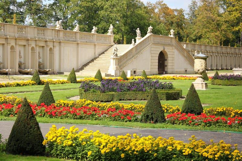 Wilanow slott & trädgårdar. Warsaw. Polen. royaltyfri bild