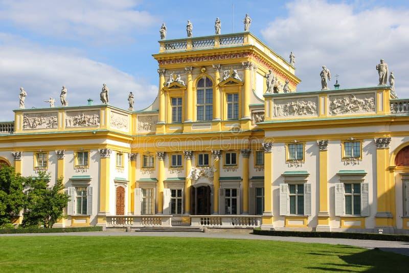 Wilanow slott & trädgårdar. Warsaw. Polen. royaltyfria foton