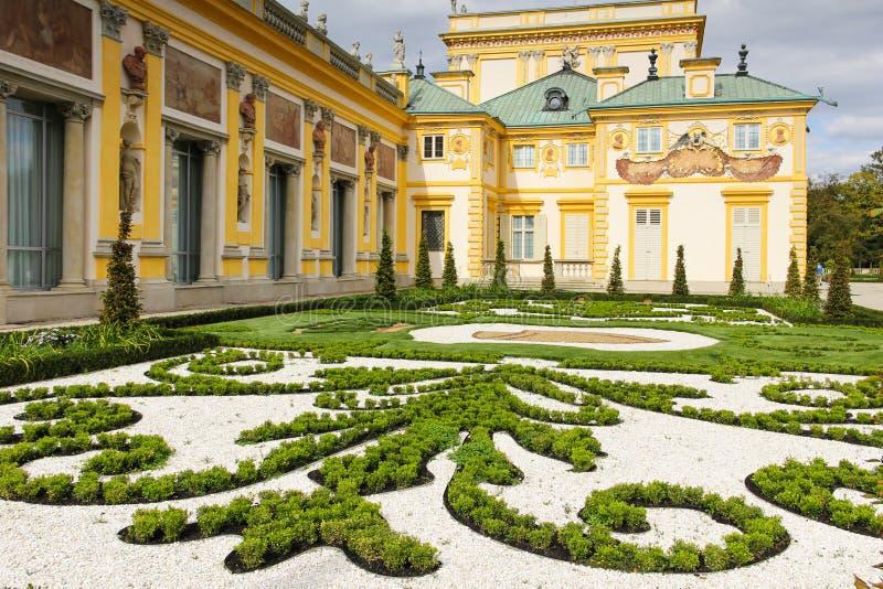 Wilanow slott & trädgårdar. Warsaw. Polen. royaltyfria bilder
