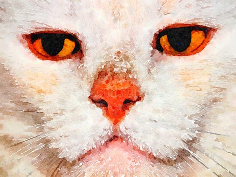 Wilber kot jest Gotowy ilustracji