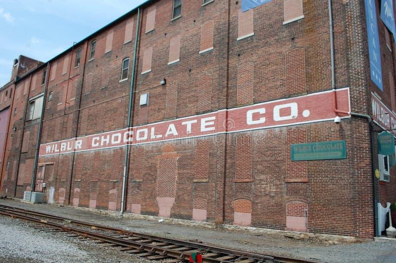 Wilbur chokladföretag arkivbild