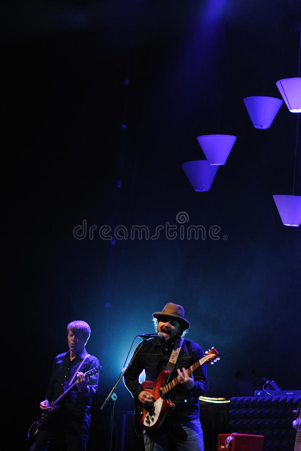 Wilco la banda se realiza en Gran Teatre del Liceu foto de archivo libre de regalías